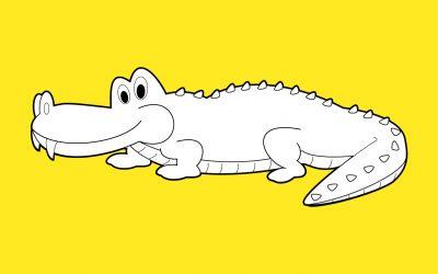 Coloriage de crocodile