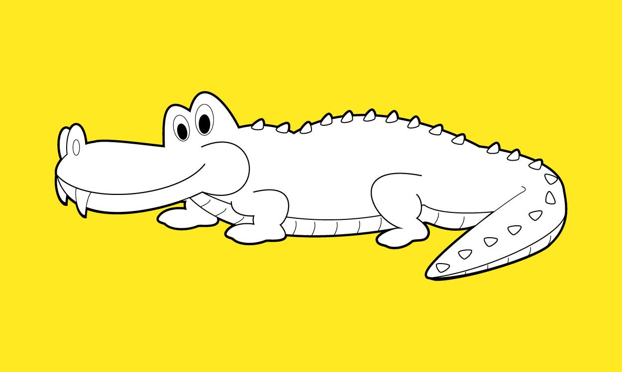 Coloriage de crocodile, Une histoire pour enfant à lire sur Goupili