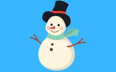 Dans le corps d'un bonhomme de neige