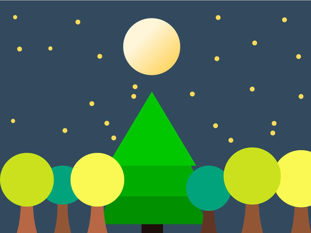 La grande fête des arbres de la forêt, Une histoire pour enfant à lire sur Goupili