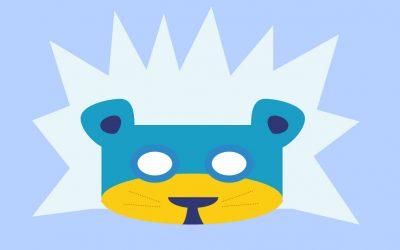 Le masque lion des neiges