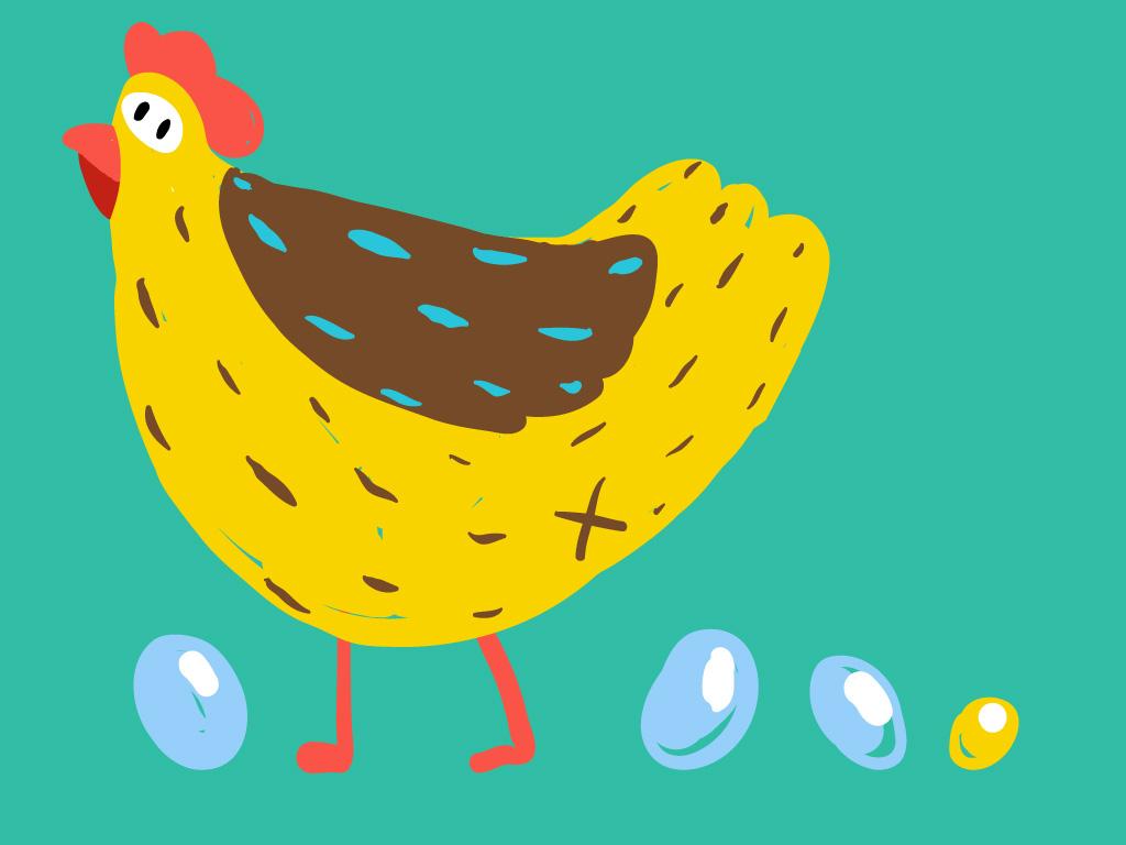 Une poule sur un mur, Une histoire pour enfant à lire sur Goupili