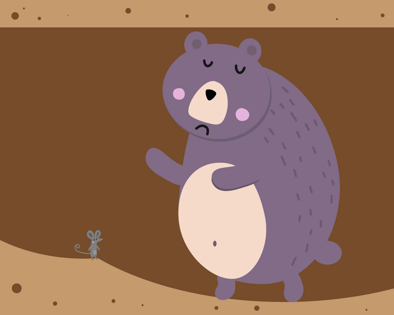 Le roi des ours et le souriceau, une histoire pour les enfants qui ne veulent pas dormir