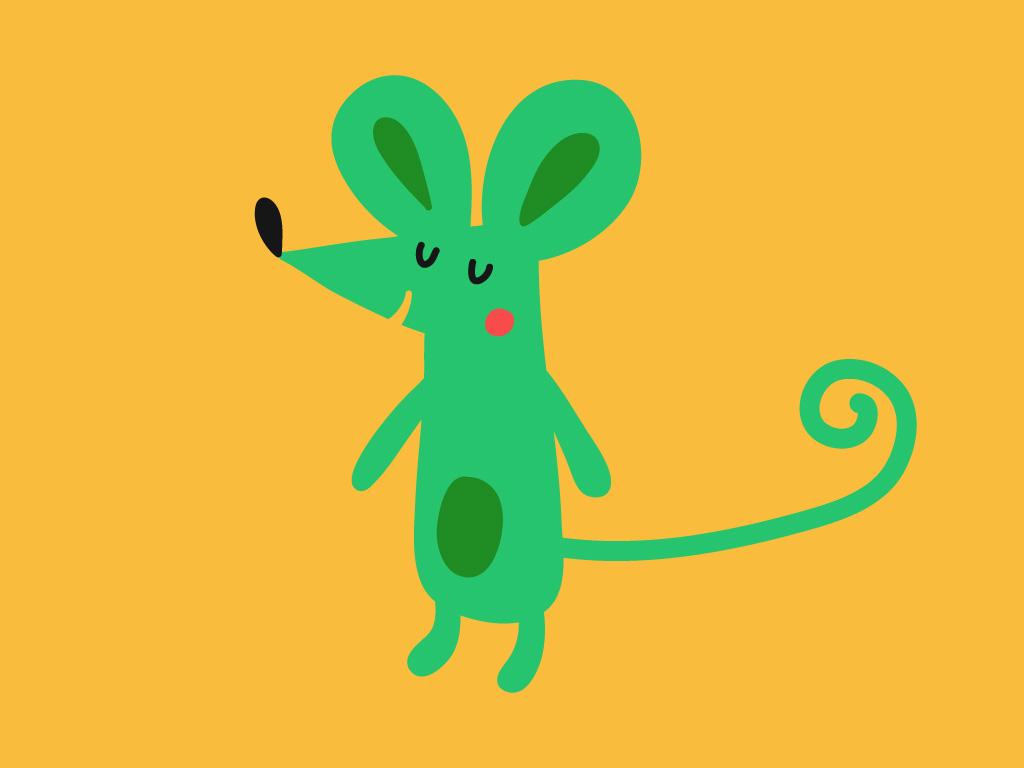 Une souris verte, Une histoire pour enfant à lire sur Goupili